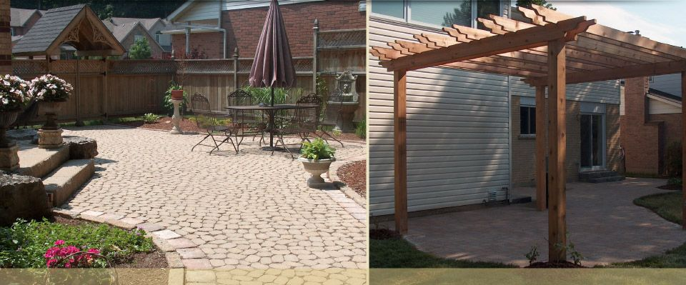 pergola and backyard patio